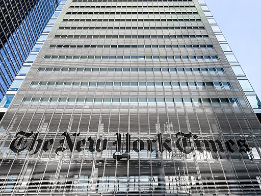 Front view of New York Times building