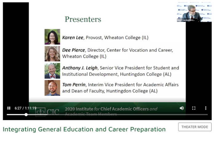 Screen capture of webinar