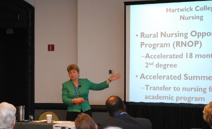 Margaret Drugovich of Hartwick College (NY) discussed mission-driven innovations implemented on her campus.