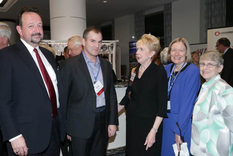 Frank Bruni, President Institute speaker and New York Times columnist, spoke with CIC member presidents during a reception.