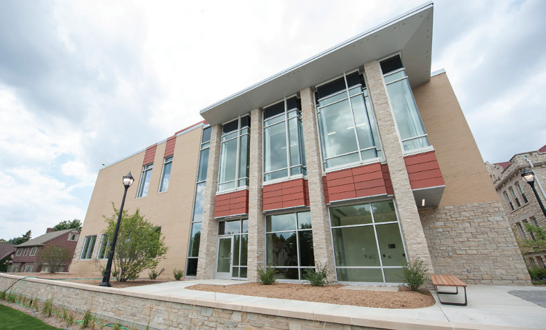 Photos of a new building at Carroll University