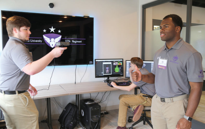 Three students test 3D motion campture software