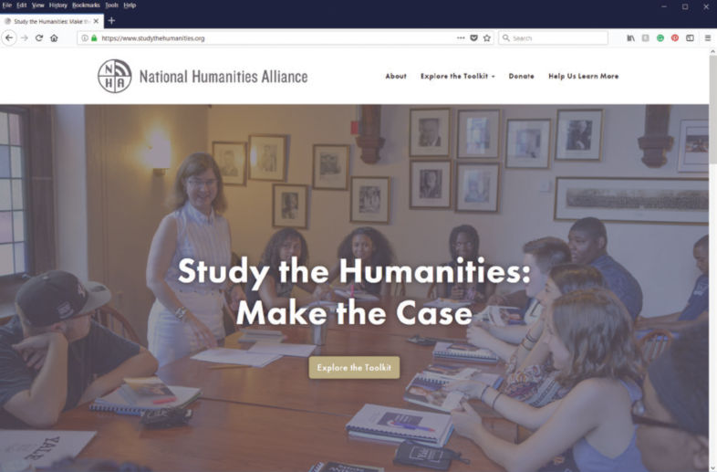 screen capture of the Study the Humanities: Making the Case website
