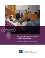 Changes in Faculty Composition at Independent Colleges report cover