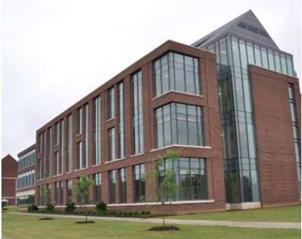 photo of new science building at Campbell University from the side