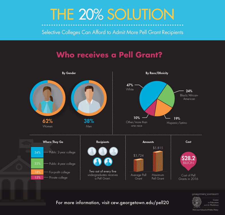Infographic: The 20% Solution - Who receives a pell grant?