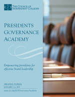 2017 Presidents Governance Academy brochure