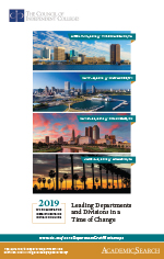 2019 Department Chair Workshops brochure