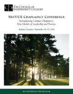 Chaplaincy Conference September brochure