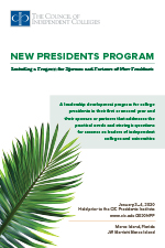 New Presidents Program brochure