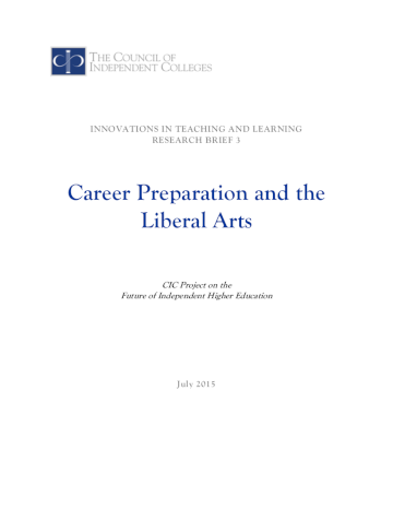 Career Preparation brief cover