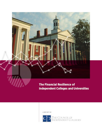 Financial Resilience report cover