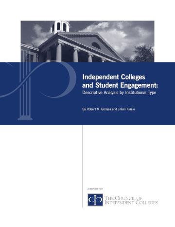 Student Engagement report cover