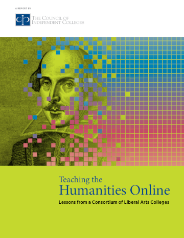Teaching Humanities Online report cover