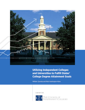Utilizing Independent Colleges report cover