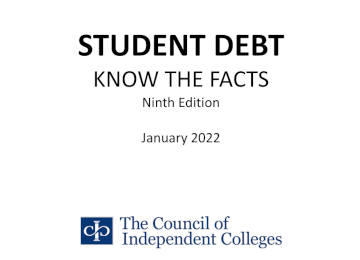 Student Debt Myths and Facts report cover